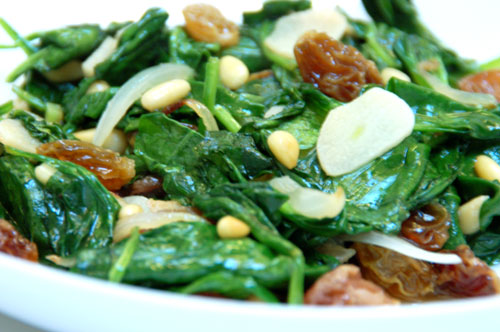 Noshtopia: Catalan-Style Spinach with Pine Nuts, Golden ...