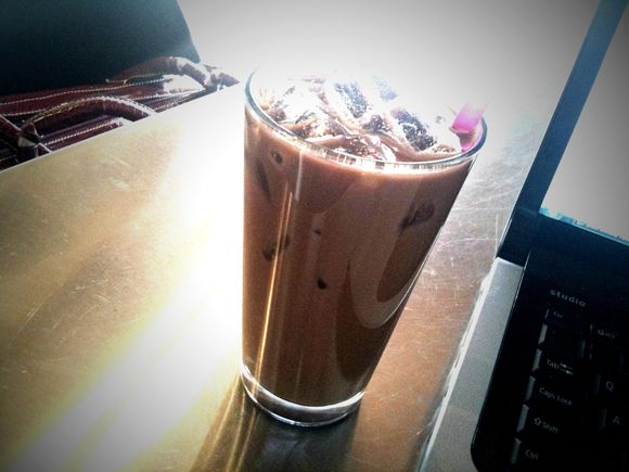 Dark Chocolate Iced Rice Milk Mocha