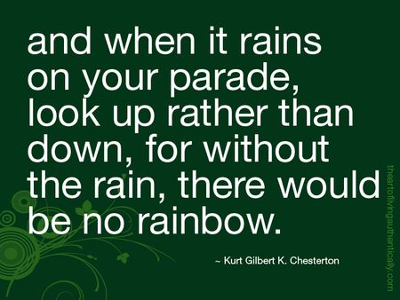 quotes on rain. Quote on Rain And Rainbows