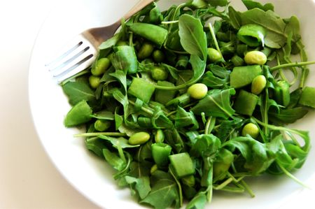 Greensalad_edamamearugula