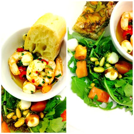 Freshandeasy Garlic Shrimp Caprese Salad