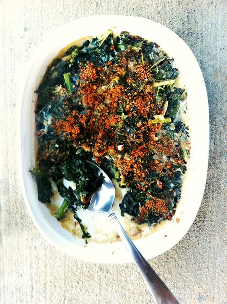 Kale Spinach Gratin