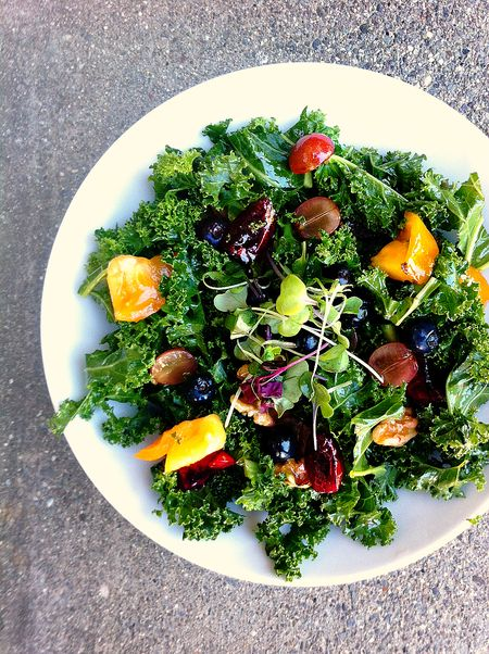 Breakfast salad chopped kale