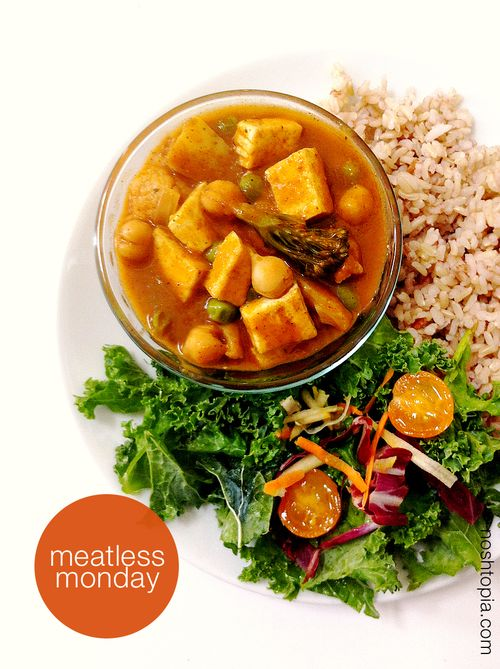 Meatless monday vegan gluten-free coconut curry
