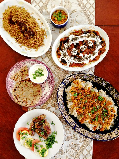 Table Top Indian Afghan Dishes