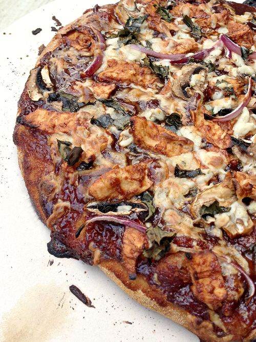 Vegan Daiya BBQ Beyond Meat Chicken Pizza
