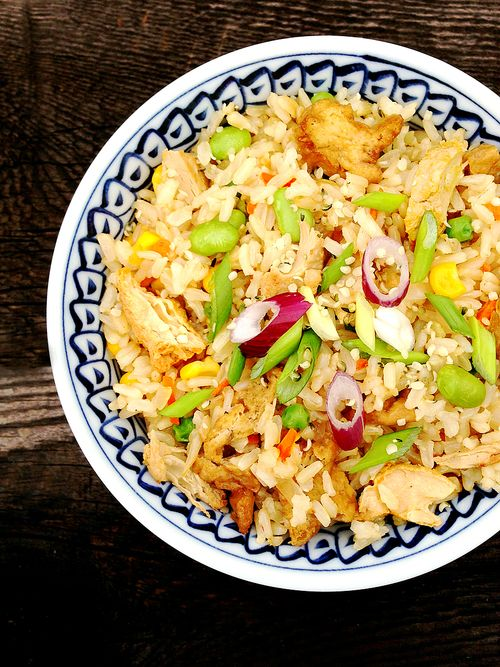 Vegan Gluten-free Chicken Tofu Fried Rice
