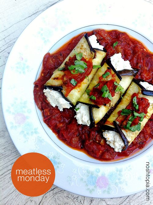 Meatless monday eggplant cannelloni top