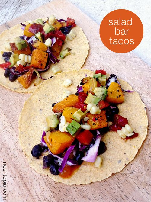 Salad Bar Butternut Squash Tacos