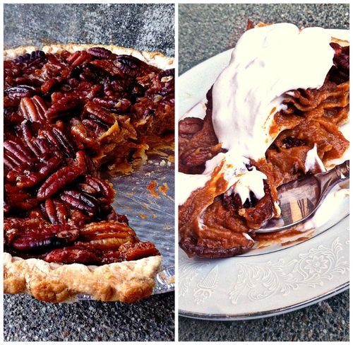Sweet potato pie Collage