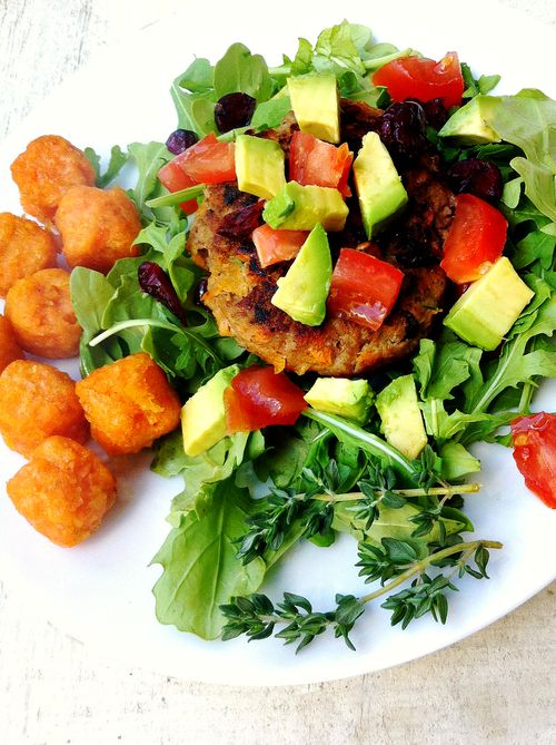 Turkey sweet potato burgers
