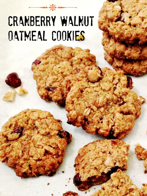 Vegan Cranberry Walnut Oatmeal Cookie