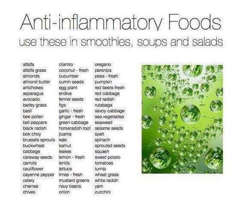 List of anti-inflammatory and alkaline foods