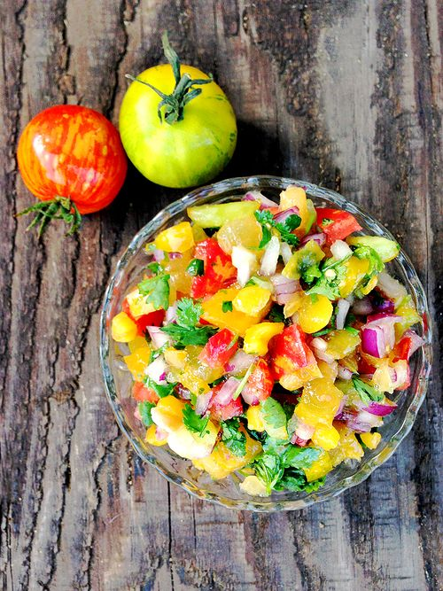 Heirloom tomato plum salsa