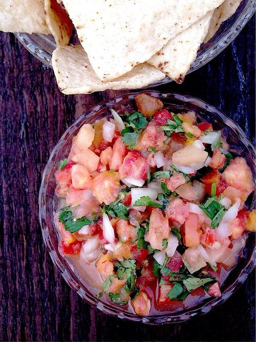 Heirloom Tomato and Plum Salsa